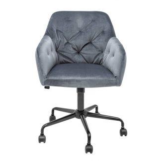 Tapicerowane krzesło biurowe dutch / szare