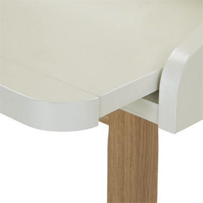 Białe biurko st james w skandynawskim stylu (116 cm)