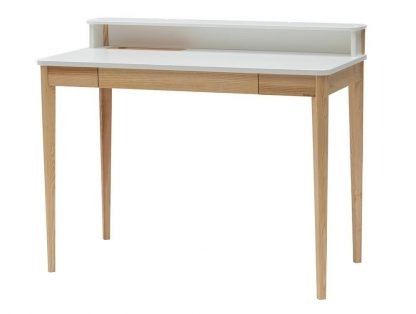 Nowoczesne biurko ashme ze schowkiem i szufladą (110 cm)