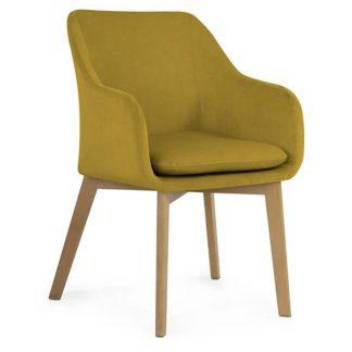 Krzesło tapicerowane oscar / drewniane nogi