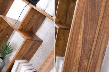 Regał makassar ii z drewna palisandrowego