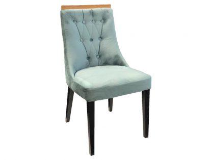 Krzesło tapicerowane kamelia z pikowanym oparciem