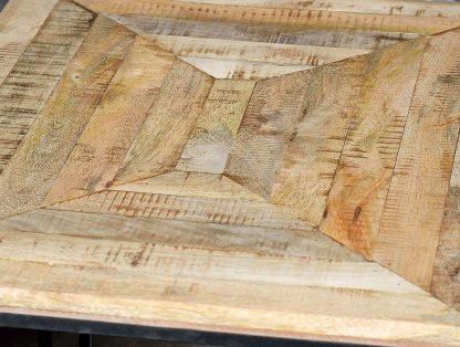 Drewniany  stolik mango z kwadratowym blatem / zestaw 3 szt.