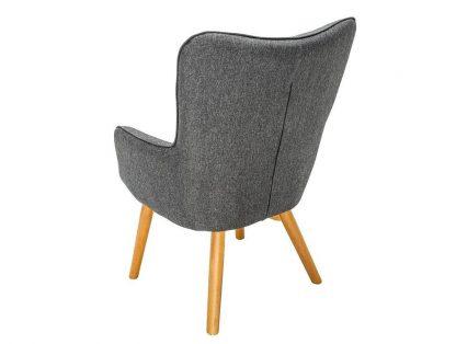 Szary fotel tapicerowany scandinavia w skandynawskim stylu