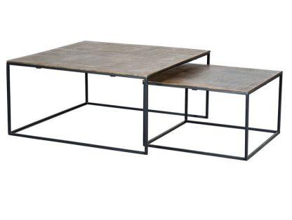 Metalowy stolik bronce / zestaw 2 szt.