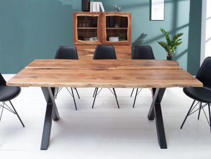Nowoczesny stół amazonas z drewna akacji / 200 x 98 cm