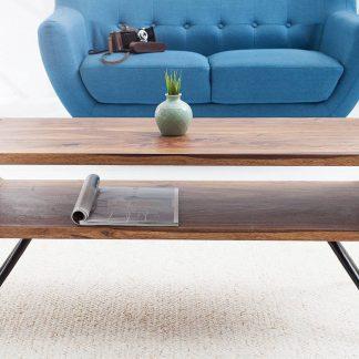 Drewniany stolik kawowy alpha w stylu retro (100 cm)