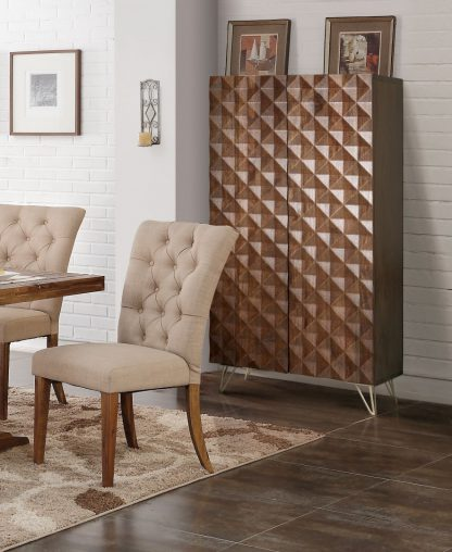 Drewniana dwudrzwiowa szafa ilusion / wys. 139 cm