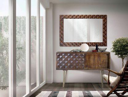 Drewniana komoda ilusion na wysokich nóżkach / szer. 120 cm
