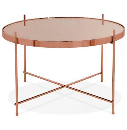 Okrągły stolik kawowy espejo medium / miedziany