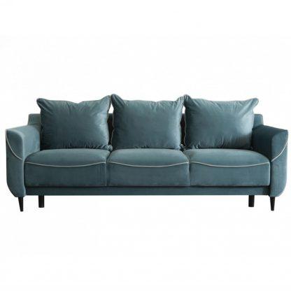 Nowoczesna rozkładana sofa marble z funkcją spania i pojemnikiem na pościel