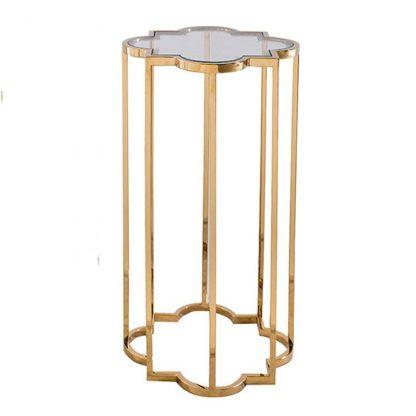Elegancki złoty stolik kawowy delmar gold / mały
