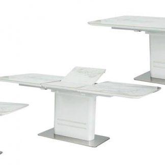 Nowoczesny rozkładany stół cartier ceramic z ceramicznym blatem 160-210 cm