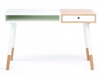 Białe biurko sonnenblick w skandynawskim stylu (120 cm)