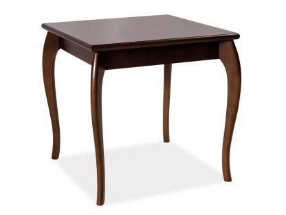 Klasyczny drewniany stolik maria ii z kwadratowym blatem / wys. 60 cm