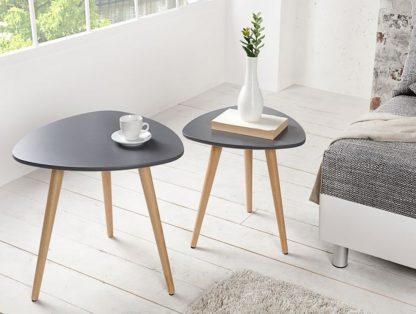 Grafitowy stolik kawowy scandinavia (zestaw 2 szt.)