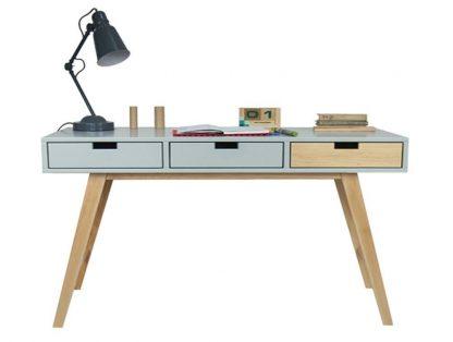 Drewniane biurko scandi xl w stylu skandynawskim (140 cm)