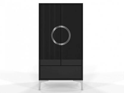 Czarna wysoka nowoczesna komoda eva / wysoki połysk