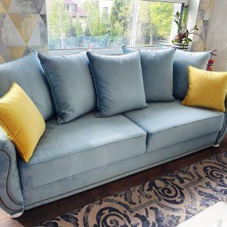 Elegancka sofa 3-osobowa bona w angielskim stylu z funkcją spania i pojemnikiem na pościel