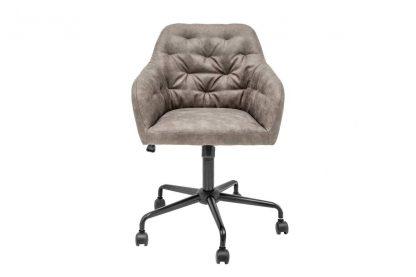 Tapicerowane krzesło biurowe dutch / szaro-beżowe