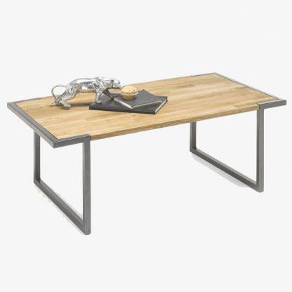 Drewniana ława vancouver na metalowych nogach / 110x60 cm
