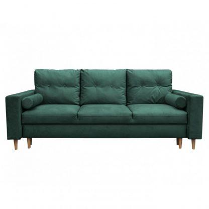Nowoczesna rozkładana sofa bocca z funkcją spania i pojemnikiem na pościel