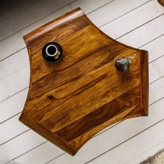 Drewniany stolik kawowy spin