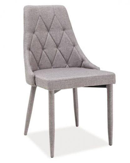 Nowoczesne krzesło tapicerowane trix szare