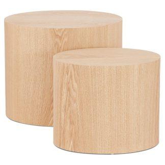 Nowoczesny stolik kawowy trunko w kolorze naturalnym / zestaw 2 szt.