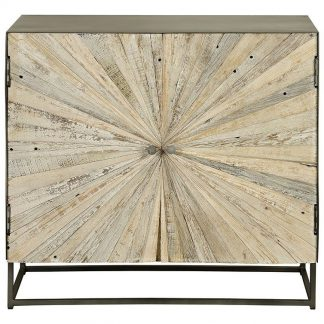 Drewniana komoda santana w stylu loftowym / wys. 80 cm