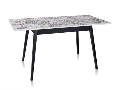 Dubaj stół rozkładany z ukośnymi nogami 120-160 cm