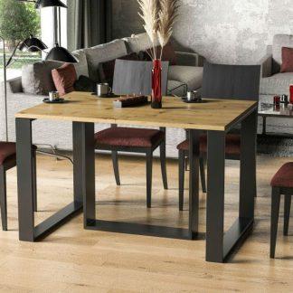 Nowoczesny stół borys na metalowych nogach / 130 cm