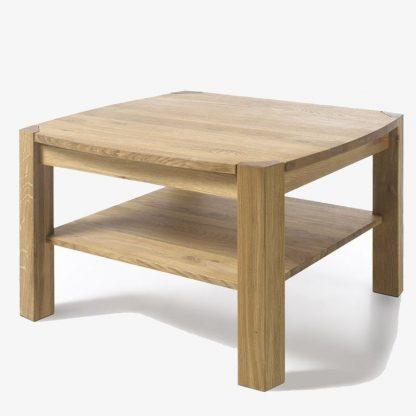 Drewniany dębowy stolik kawowy kalipso / 83x83 cm