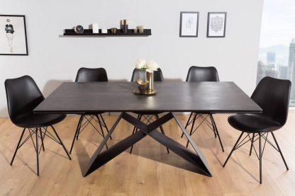 Nowoczesny rozkładany stół prometheus / blat w kolorze lawy 180-260 cm