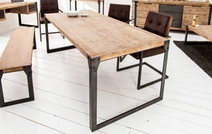 Industrialny stół na metalowych nogach factory ii / 200 cm