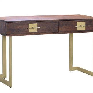 Drewniane biurko madras z metalowymi nogami (138 cm)