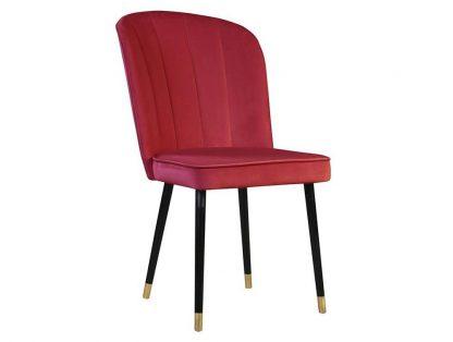 Krzesło tapicerowane cornelia z pionowymi przeszyciami