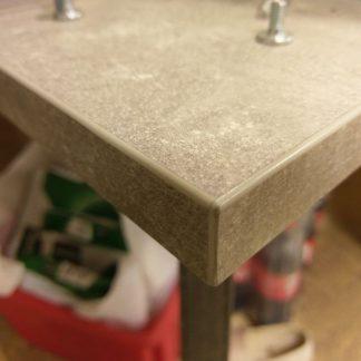 Nowoczesny rozkładany stół borys na metalowych nogach / 130-290 cm