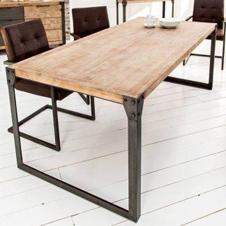 Industrialny stół na metalowych nogach factory i / 160 cm