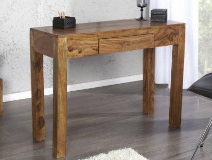 Klasyczne biurko/sekretarzyk z szufladą makassar (100 cm)