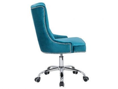 Tapicerowane krzesło biurowe victorian niebieskie