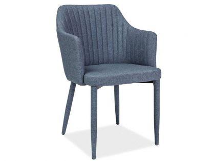Nowoczesne krzesło tapicerowane welton grafitowe
