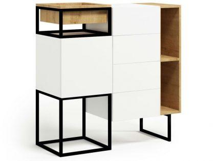Nowoczesna komoda z szufladami i szafką box steel / szer. 120 cm