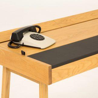 Drewniane biurko brompton w skandynawskim stylu (108 cm)
