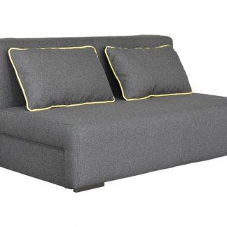 Szara rozkładana sofa okey z pojemnikiem na pościel / szer. 140 cm
