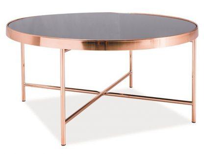 Okrągły stolik kawowy gina b czarno-miedziany 82 cm
