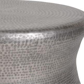Okrągły stolik kawowy bongo w kolorze srebrnym