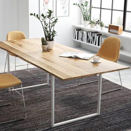 Stół classic z dębowym blatem na metalowych nogach