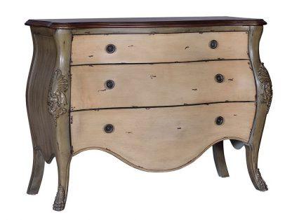Stylizowana komoda barroco z drewna paulowni / jasna