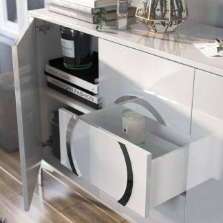 Biała nowoczesna komoda eva / wysoki połysk